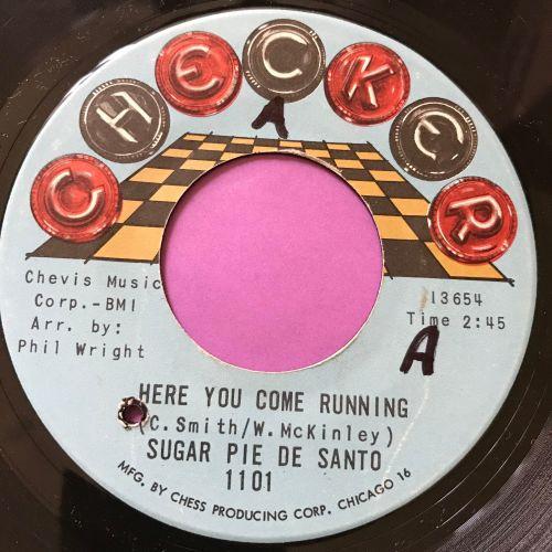 Sugar Pie De Santo-Here you come running-Checker wol M-