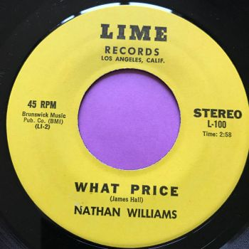 Nathan Williams-What price-Lime E+ OFFERS OVER £1200