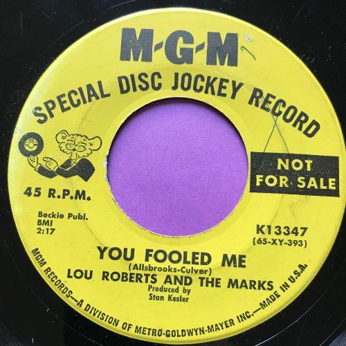 Lou Roberts-You fooled me-MGM Demo wol E+
