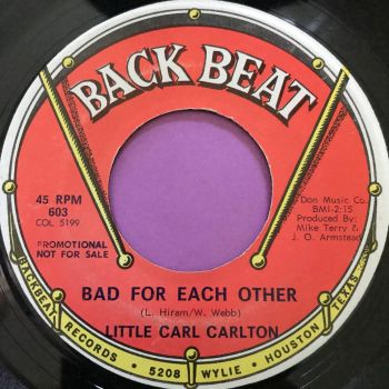 Carl Carlton-Bad for each other-Back beat E+