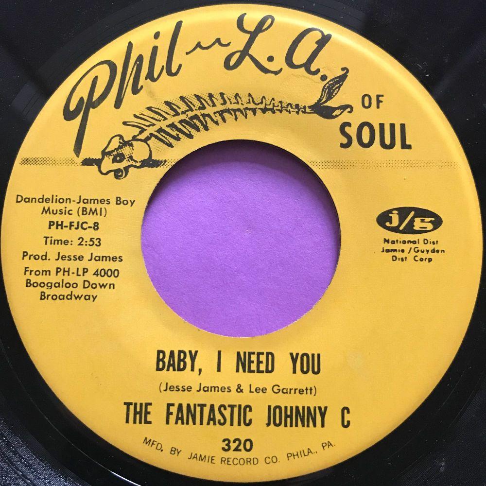 Fantastic Johnny C-Baby, I need you-Phila of soul E