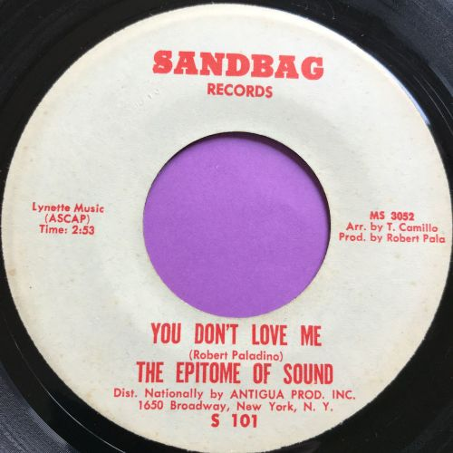 Epitome of Sound-You don't love me-Sandbag E+