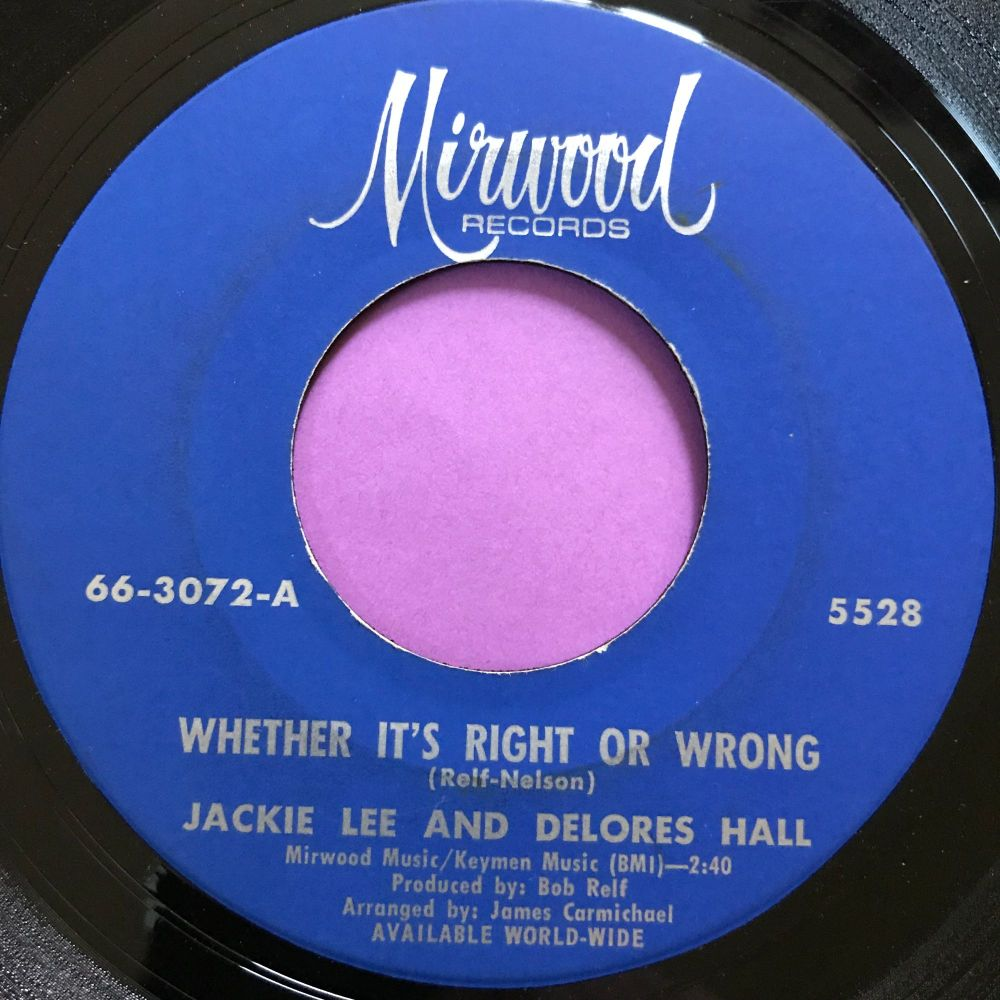 Jackie Lee and Delores Hall-Whether it's right or wrong-Morwood E+