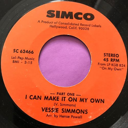 Vessie Simmons-I can make it on my own-Simco E+