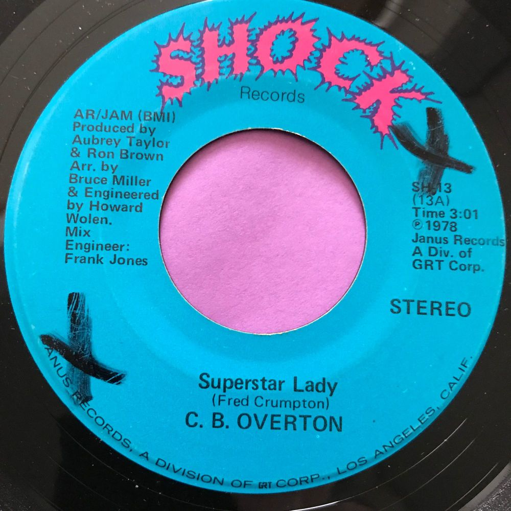 C.B Overton-Superstar lady-Shock x on label E+