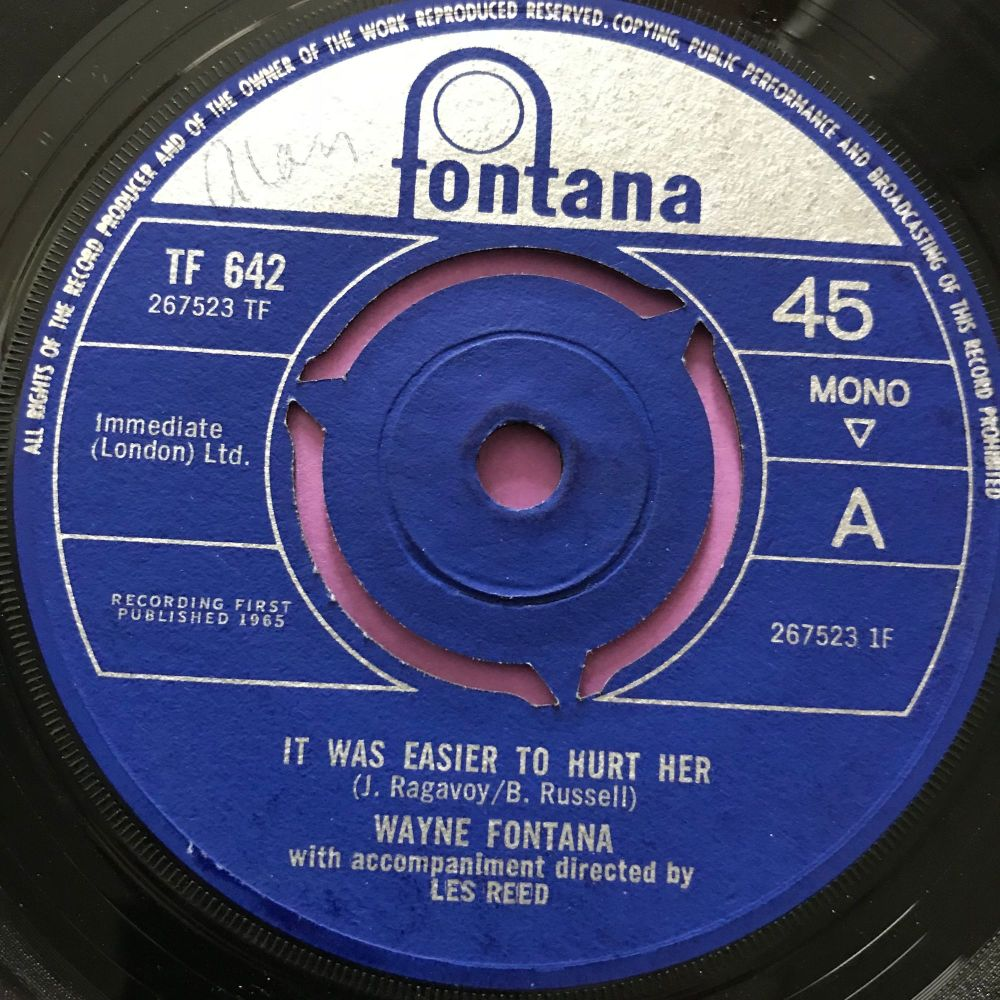 Wayne Fontana-It was easier to hurt her-UK Fontana E+