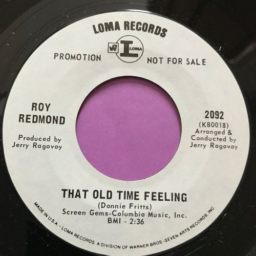 Roy Redmond-That old time feeling-Loma WD M-