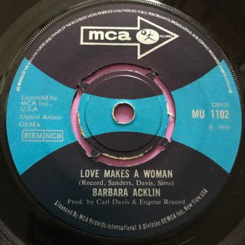 Barbara Acklin-Love makes a woman-UK MCA E