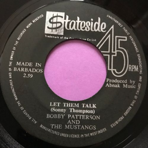 Bobby Patterson-Let them talk-West Indies Stateside E+