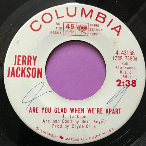 Jerry Jackson-Are you glad when we're apart-Columbia WD wol E+