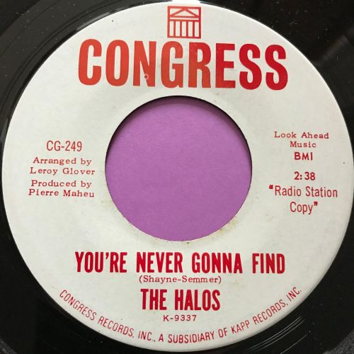 Halos-You're never gonna find-Congress WD E+