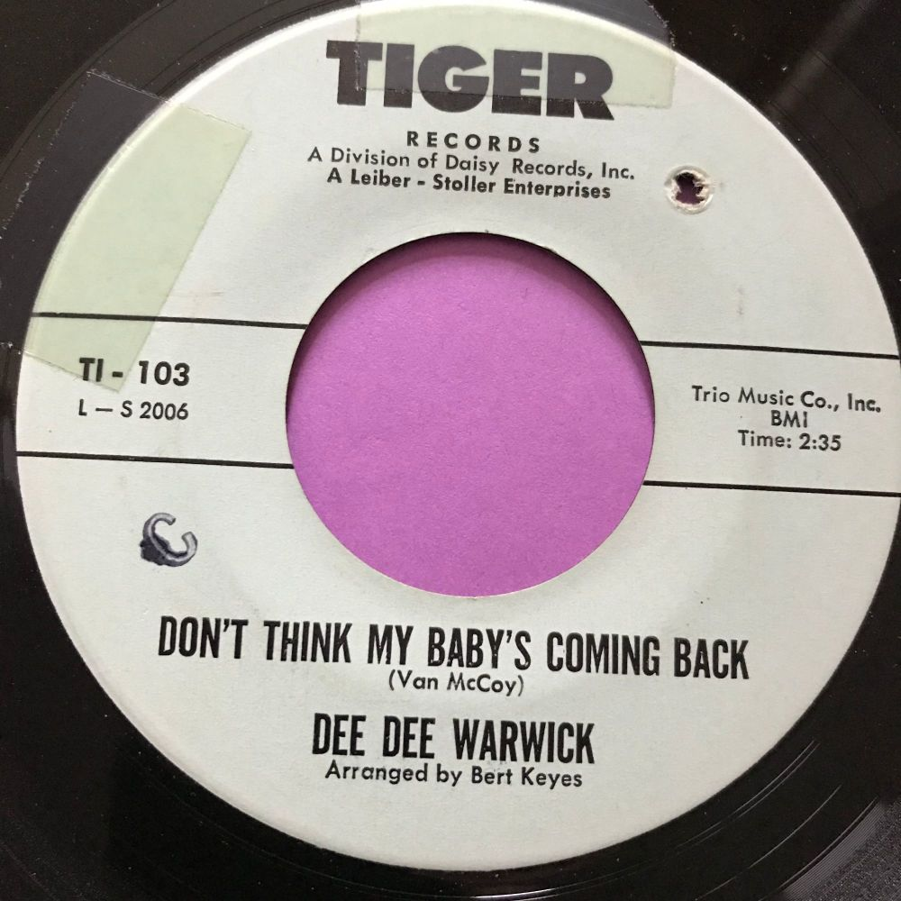 Dee Dee Warwick-Don't think my baby's coming back-Tiger Fixed crack on cent