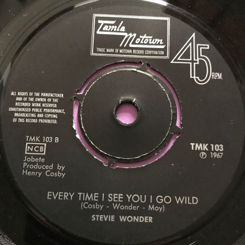 Stevie Wonder-Everytime I see you I go wild- Swedish TMK 103 E