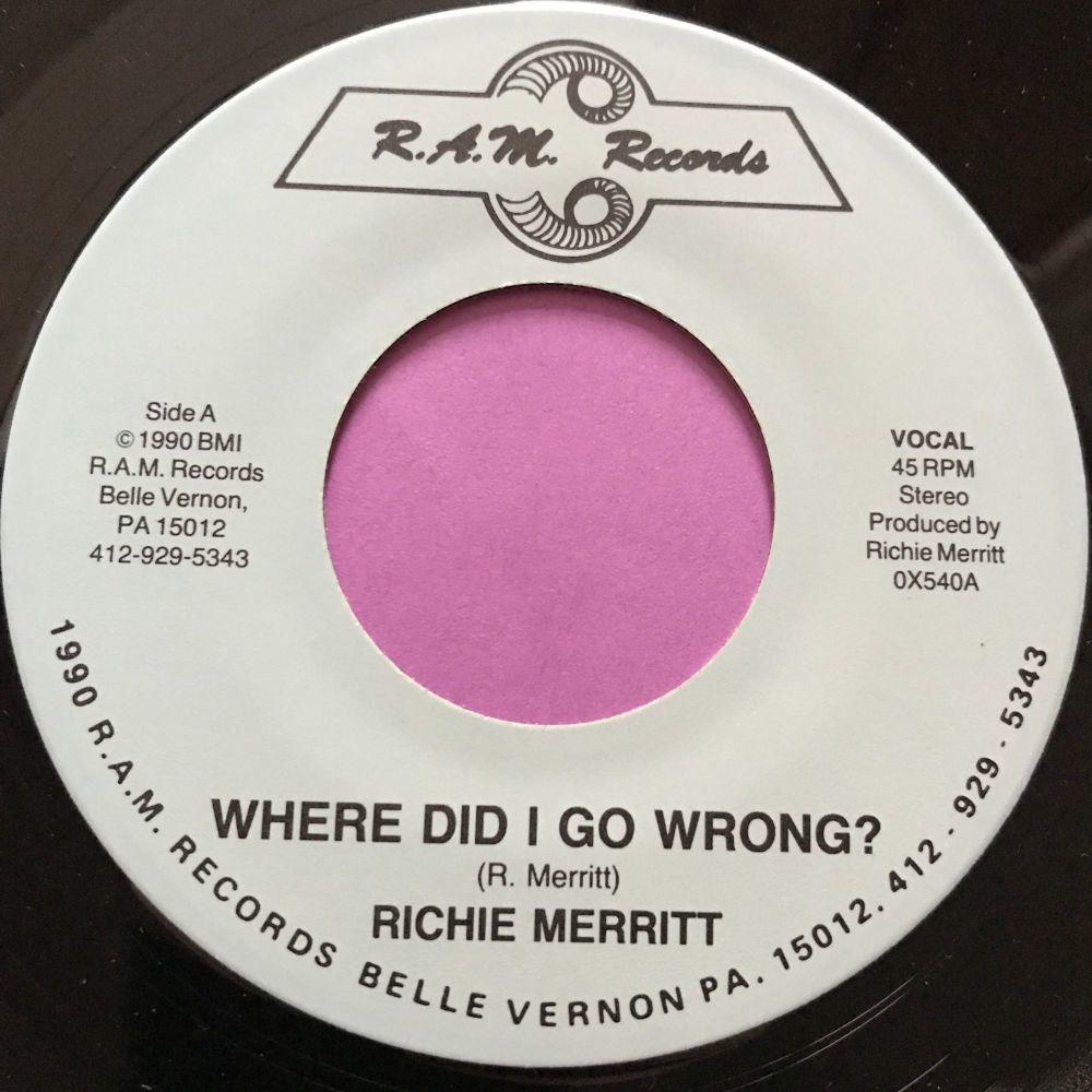 Richie Merritt-Where did I go wrong-RAM E+