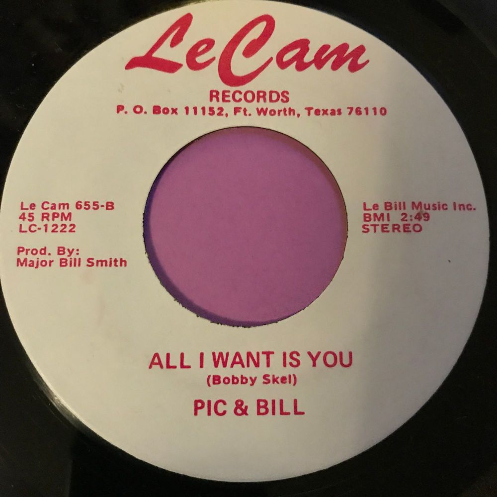 Pic & Bill-All I want is you-LeCam E+