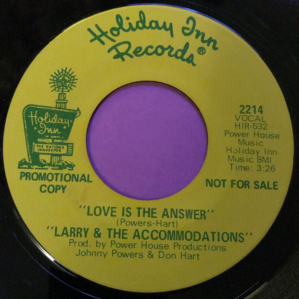 Larry & The Accomadations-I wanna hold you-Holiday inn E+