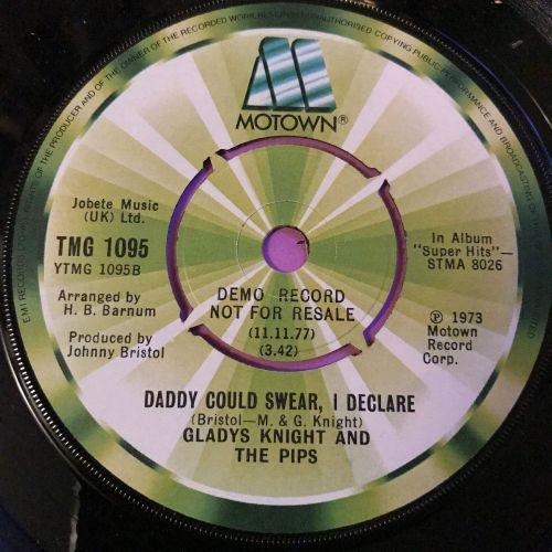 Gladys Knight-Daddy could swear I declare-UK Motown Demo E+