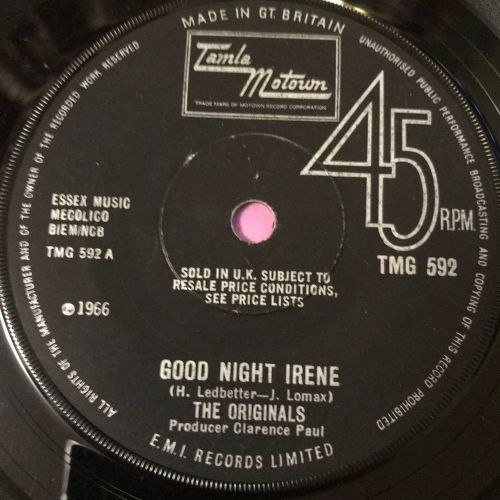 Originals-Good night Irene-TMG 592 E