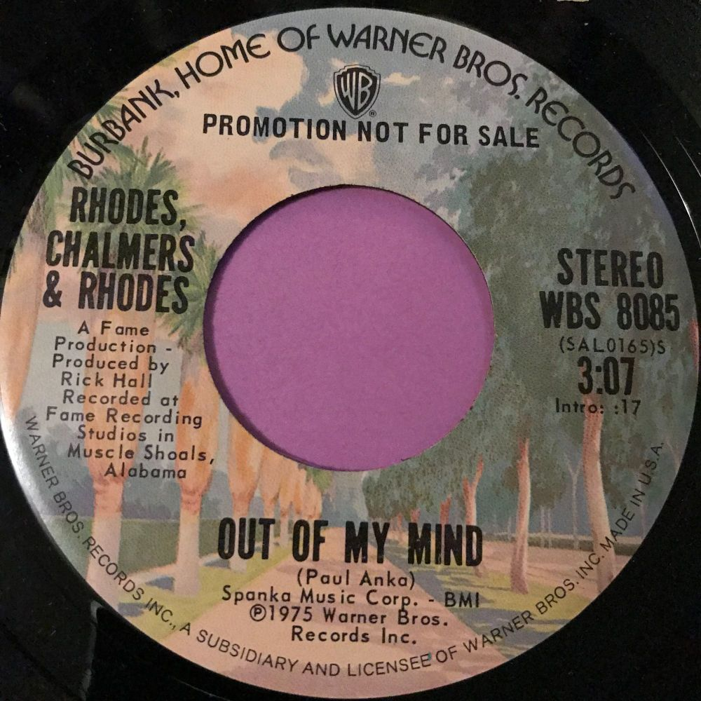 Rhodes,Chalmers & Rhodes-Out of my mind-WB E+