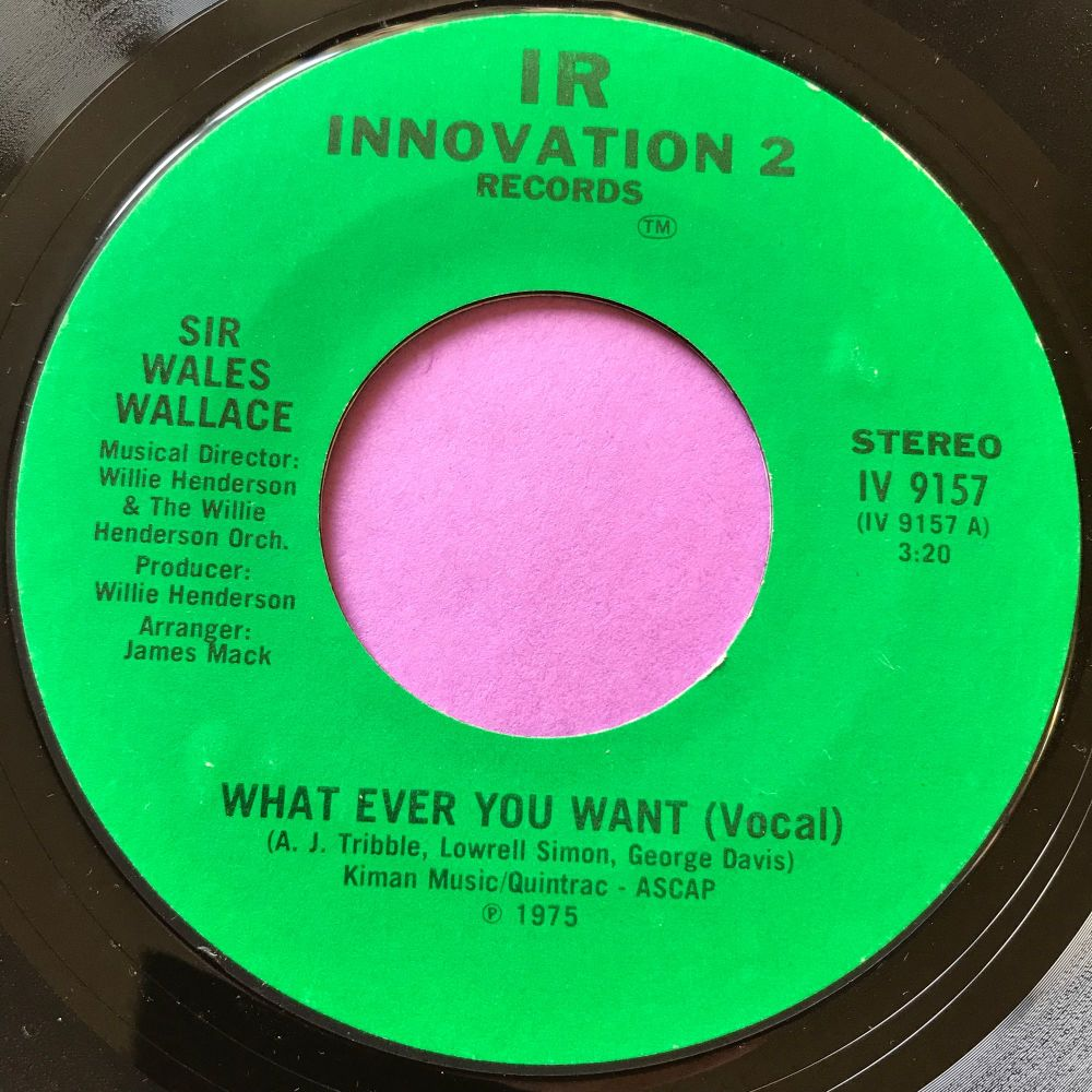 Wales Wallace-What ever you want-Innovation E+