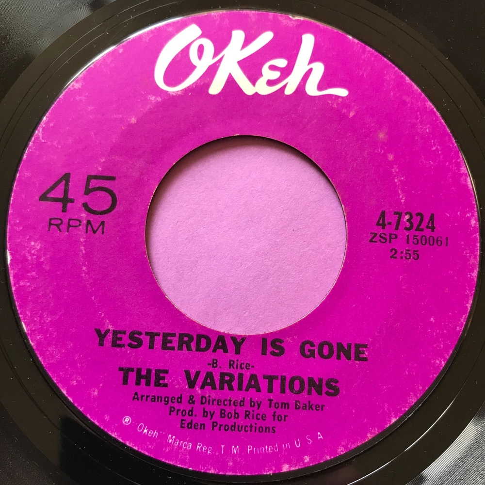 Variations-Yesterday is gone-Okeh E+