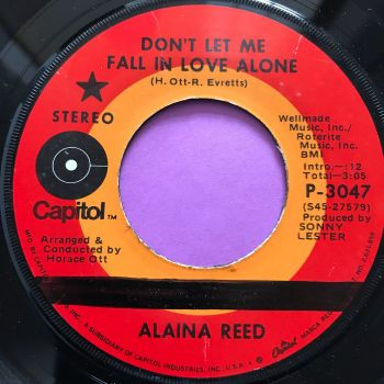 Alaina Reed-Don't let me fall in love alone-Capitol wol E+