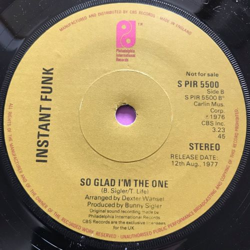 Instant Funk-So glad I'm the one-UK PIR E+