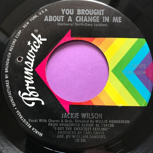 Jackie Wilson-You brought about a change in me-Brunswick E