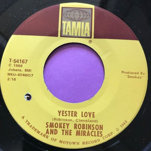 Miracles-Yester love-Tamla E+