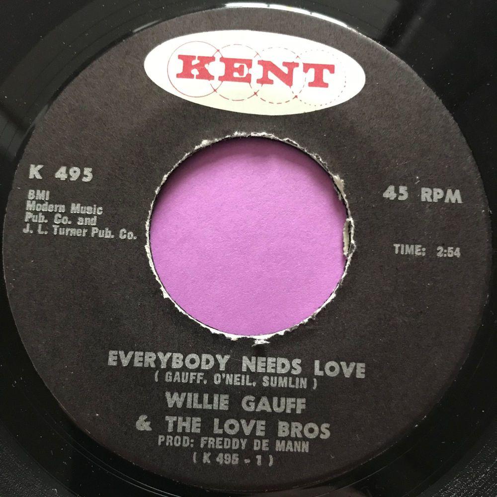 Willie Gauff-Everybody needs love-Kent E+