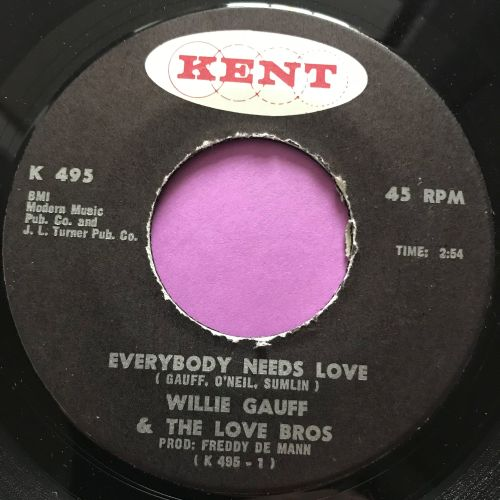 Willie Gauff-Everybody needs love-Kent E+