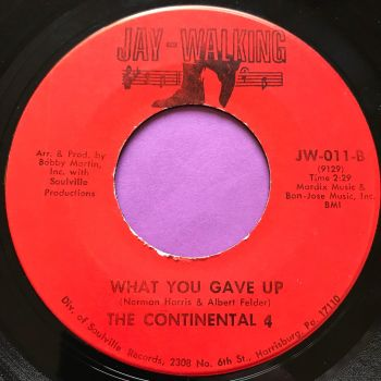 Continental Four-What you gave up-Jaywalking E