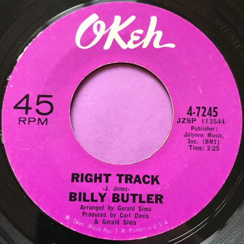 Billy Butler-Right track-Okeh E-
