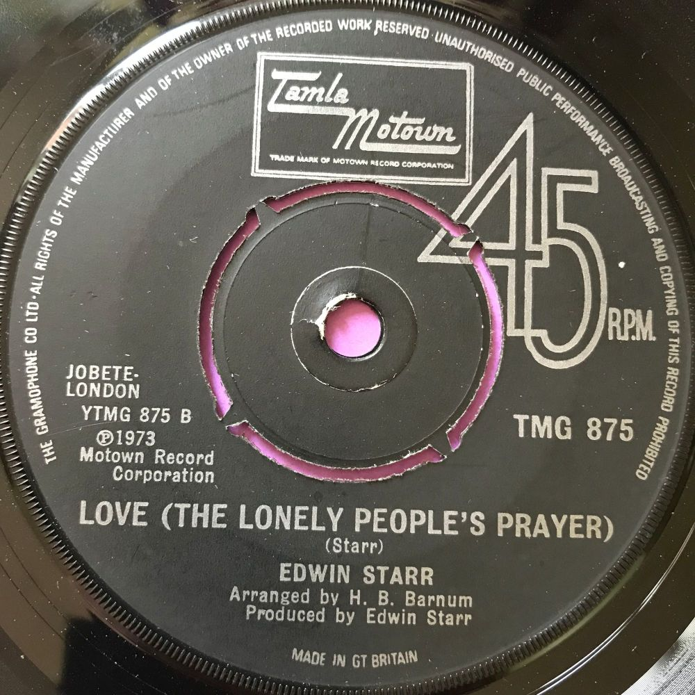 Edwin Starr-Love (The lonely people's prayer)-TMG 875 E+