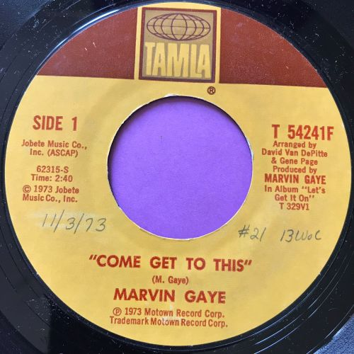 Marvin Gaye-Come get to this-Tamla wol E+