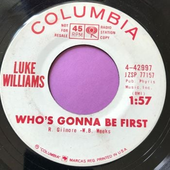 Luke Williams-Who's gonna be first-Columbia E