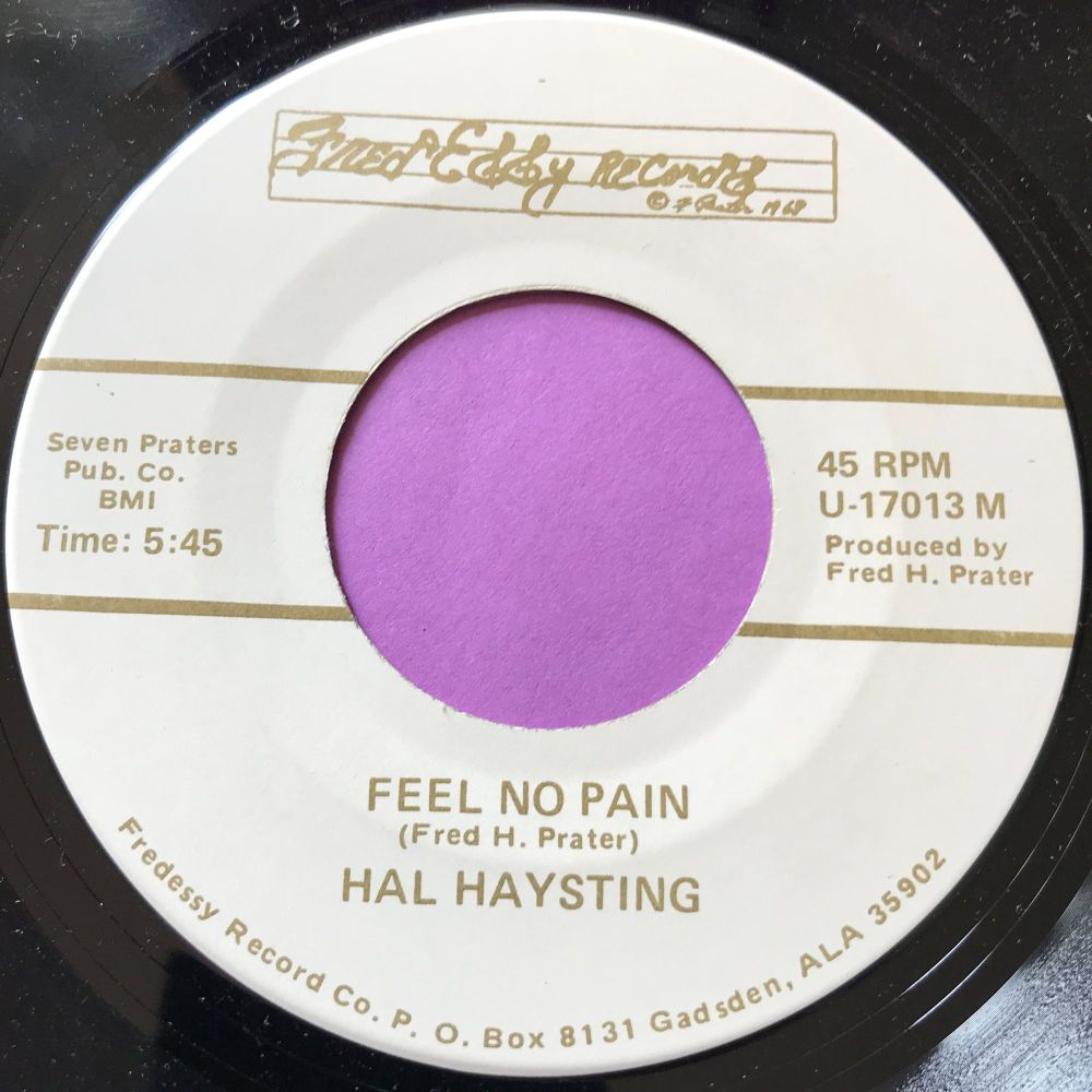 Hal Haysting-Feel no pain-Fred Eddy E+
