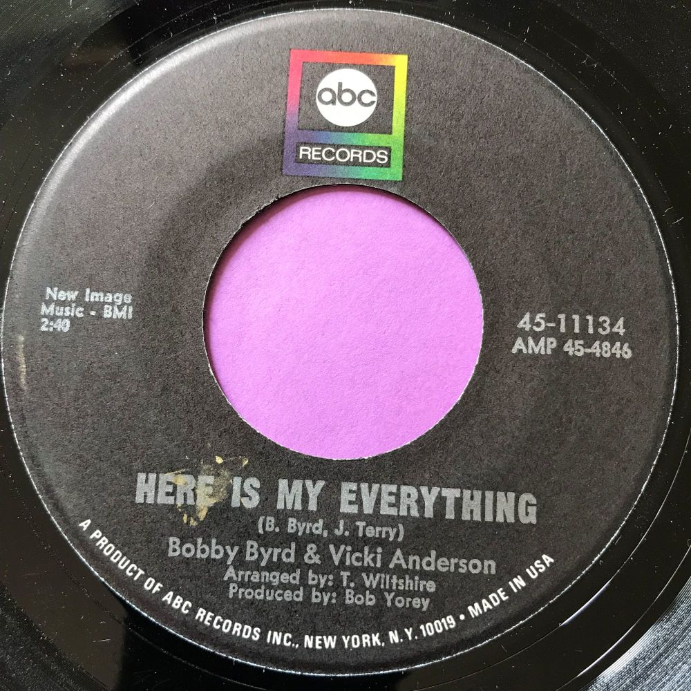 Bobby Byrd & Vicki Anderson-Here is my everything-ABC E+
