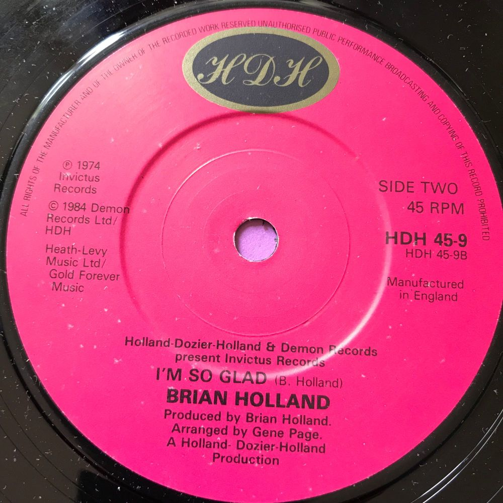 Brian Holland-I'm so glad-UK HDH M-
