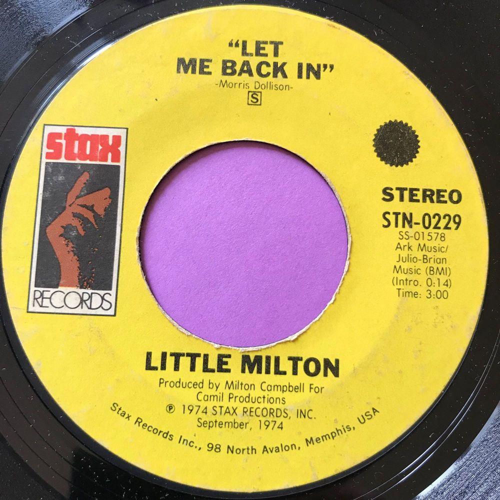 Little Milton-Let me back in-Stax E