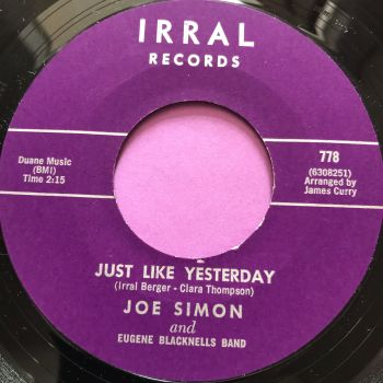 Joe Simon-Just like yesterday-Irral M-