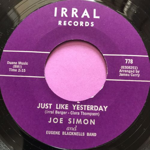 Joe Simon-Just like yesterday-Irral M-