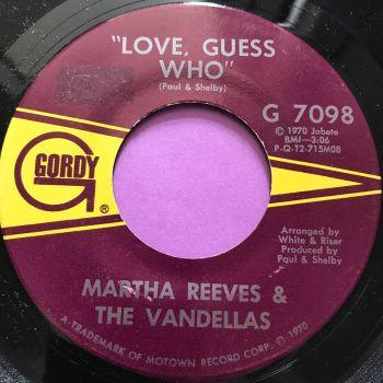 Martha Reeves-Love guess who-Gordy stkr E+
