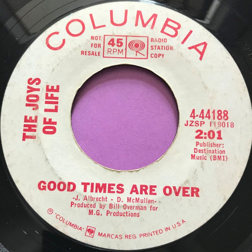 Joys of Life-Good times are over-Columbia WD E