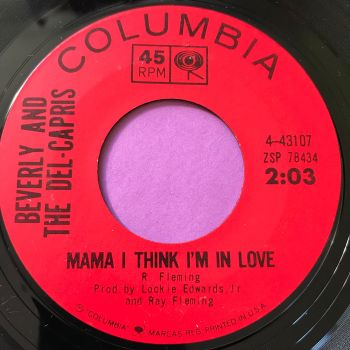 Beverly and the Del-Capris-Mama I think I'm in love-Columbia E