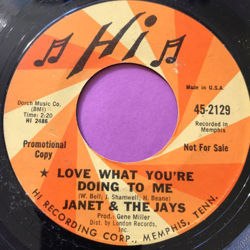 Janet & The Jays-Love what you're doing to me-Hi Demo E