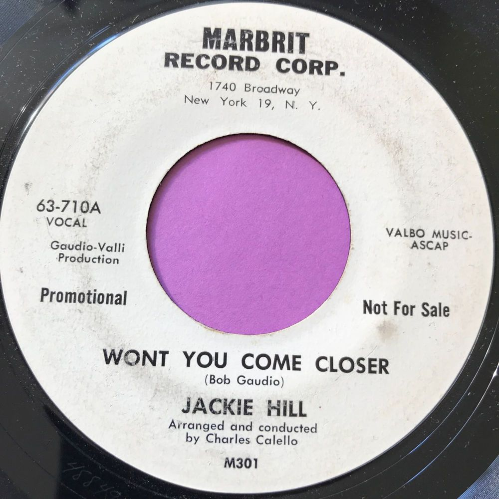 Jackie Hill-Won't you come closer-Marbrit WD E