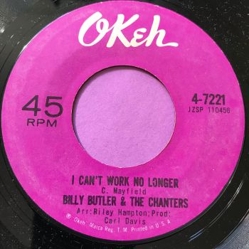 Billy Butler-I can't work no longer-Okeh M-