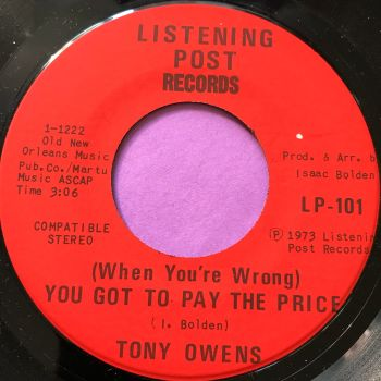 Tony Owens-You got to pay the price-Listening post E+