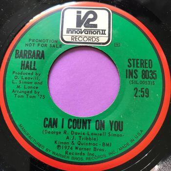 Barbara Hall-Can I count on you-Innovation E+